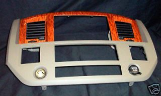 Dodge Ram SLT truck dash bezel with navigation OEM 2006 2008 doubl din
