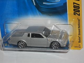 Hot Wheels 2007 New Models 10/36 Buick Grand National   Silver Black