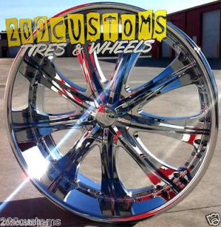 22 INCH RED SPORT WHEELS RIMS TIRES RSW33 5X115 5X120 +13 OFFSET
