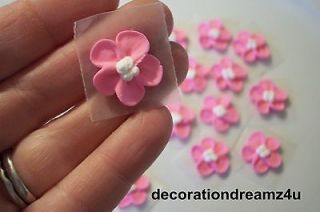 15   3/4 Sugar Royal Icing Edible Flowers Cake Decoration Handmade by