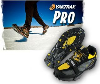 YakTrax Pro Heavy Duty Traction Device Snow and Ice Sm   XL NEW Free