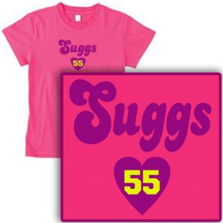TERRELL heart SUGGS Womens HOT PINK RAVENS T SHIRT   all sizes