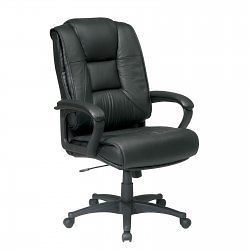 High Back Glove Soft Leather Chair   by Office Star   EX5162 G13