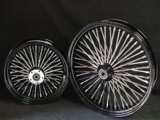 DNA 52 SPOKE FAT DADDY BLACK WHEEL 4 HARLEY SOFTAIL TOURING BAGGERS