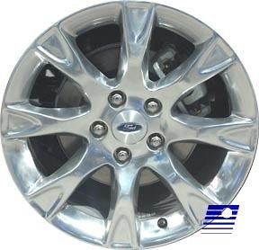 2011 Ford Fusion Factory OEM 8 Spoke 17 x 7.5 Polished Wheel Rim 3856