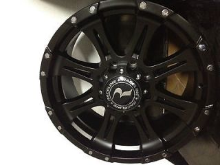 20 Inch Black Raceline Raptor Wheels Rims Dodge Ram 2500 3/4 ton 8x6.5