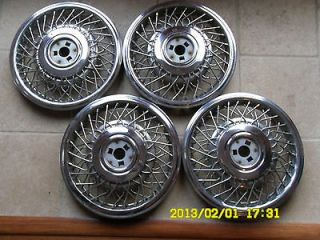 CADILLAC WHEELS ORIGINAL VINTAGE 1984 CADILLAC DEVILLE WIRE WHEELS