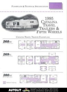 1995 Catalina Travel Trailer Fifth Wheel Brochure r2768 4FVE1U
