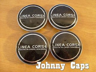 Linea Corse Wheels Black Center Cap #2 Custom Wheel Black Center Caps