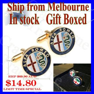 NEW Stylish Cuff Link Alfa Romeo car Logo Men s Wedding Cufflinks