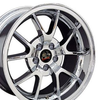 18 9/10 Chrome FR500 Wheels Rims Fit Mustang® 94 04