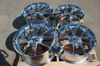 Chrome Corvette Spyder Wheels Rims 2006 2013 C6 Z06 ZO6 Grand Sport