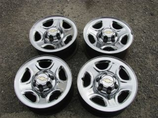 Chevy GMC Truck Van 166LUG Chrome Wheels Rims Centers