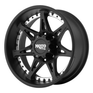 18 inch Black MOTO METAL Wheels 961 Rims Chevy Gmc Dodge 2500 3500 8
