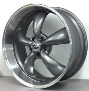 REV CLASSIC 5 SPOKE MUSCLECAR WHEELS LUG CHEVY TRUCK 5X5 22 GRAY RIMS