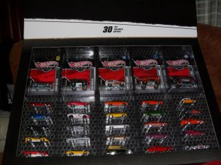 2011 Hot Wheels Garage  Exclusive 30 Car Set with VW Drag Bus