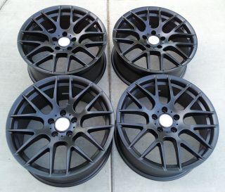 19 Acura TL 2009 Up Staggered Alloy Wheels Rims Matte Black Color Set