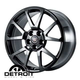 Cadillac cts STS 2009 2011 PVD Black Chrome Wheels Rims Factory 4650