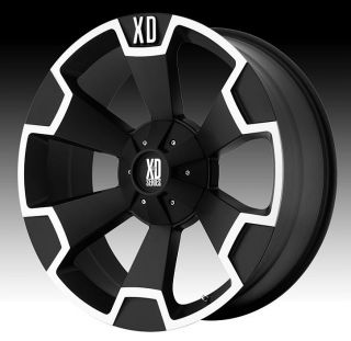 20 inch 20x9 KMC XD Black Wheels Rims 5x5 5x127 2007 Jeep Wrangler