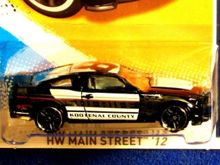 Hot Wheels 2012 2010 Ford Mustang GT Black Sheriff Graphics