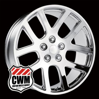 22x10 Dodge Ram SRT10 Replica Chrome Wheels Rims fit Durango 2004 2008