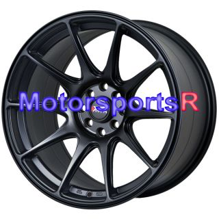 Flat Black Rims Wheels Staggered 4x4 5 4x114 3 4x100 Concave Stance