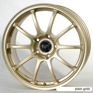 17 Rota G Force Gold Rims Wheels 17x8 48 5x100 Subaru Legacy WRX