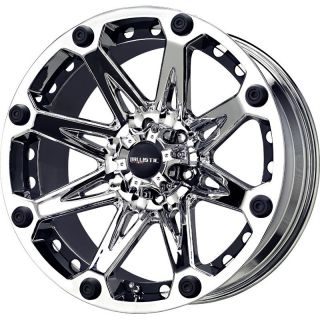 18 inch Ballistic Jester Chrome Wheels Rims 8x170 12 Ford F250 F350