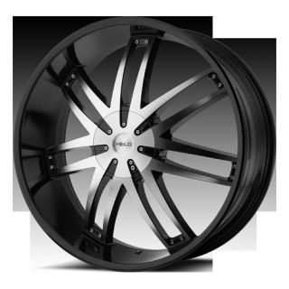 20Wheels Rims Helo 868 Black Colorado Silverado Tahoe