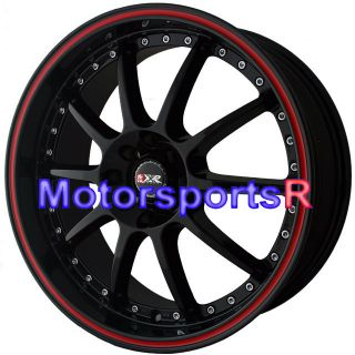 17 XXR 941 Black Red Stripe Rims Wheels 4x100 06 09 10 11 12 13 Toyota