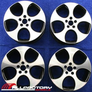 VW GOLF GTI JETTA 18 FACTORY OEM RIMS WHEELS SET OF FOUR CNCB 69822