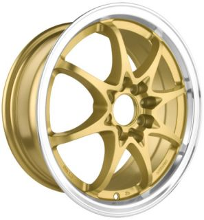 DR9 15 Rims Gold 4 Lugs Drag Wheels Universal Gold Rim