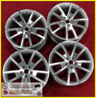 08 09 10 11 12 Chevy Malibu 18 Machined Silver Wheels Used Rims Set