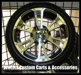 Golf Cart Gem Car Dot Tires w SS112 14 Wheels