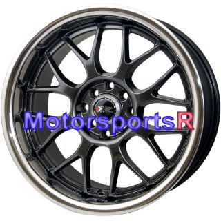 17 17x9 XXR 006 Chromium Black Rims wheels 4x114 3 Stance 89 94 Nissan
