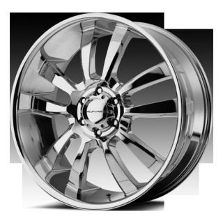 24 WHEELS RIMS KMC SKITCH CHROME LAND CRUISER TUNDRA TRD SEQUOIA LX470