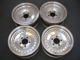 Polished Aluminum Center Line Wheels Rims From 1967 Firebird 14x7 LOOK