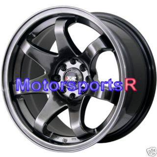 16 16x8 XXR 522 Chromium Black Concave Rims Wheels 4x100 90 97 00 05