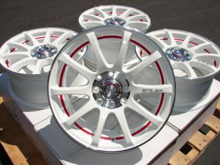 15 White Effect Wheels Rims 4x100 galant Altima Versa Volvo S40
