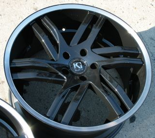KOUTURE SPLINE 20 BLACK RIMS WHEELS INFINITI FX45 / 20 X 10 5H +25