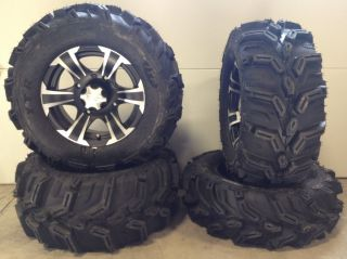 ITP SS312 14 Wheels Black 27 ITP Mud Lite XTR Tires Honda Rincon