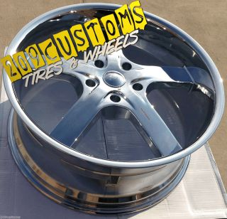 24 inch Rims Wheels Tires U2 55 5x127 Chevy Caprice 1972 1973 1974