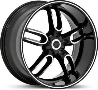 New 20 Staggered Ruff Racing R944 Black Rims Wheels
