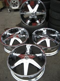 26 Dub Big Homie Chrome Wheels Rims and Tires Package Gianna Lexani