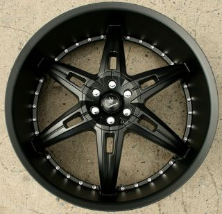 24 Semi Black Rims Wheels Silverado 07 Up 24 x 9 5 6H 30