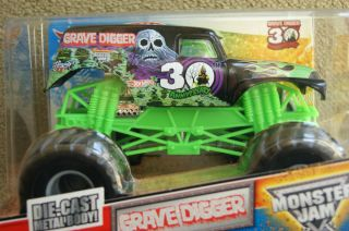 Hot Wheels Monster Jam Truck Grave Digger 30th Anniversary 1 24 Scale