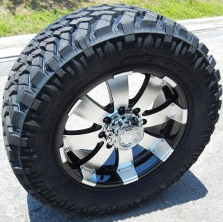 20 Black Ultra Wheels 33 Nitto Trail Tire Chevy Silverado GMC 2500
