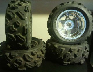 RC Monster Truck Tires Wheels Cut and Shut