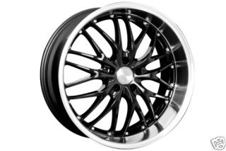 18 MRR Black GT1 Rims Wheels Tires Honda S2000 Staggd