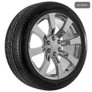 24 inch GMC truck Yukon Denali 2011 Sierra chrome wheels rims and